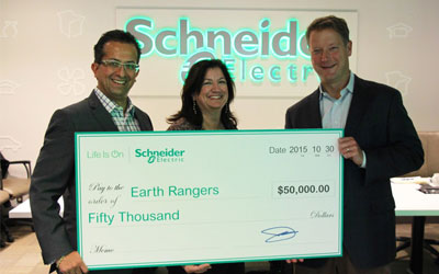 Schneider Electric Canada & Earth Rangers Celebrate 7 Years of Partnership